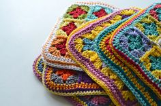 stack of potholders 2013 by just maryse, via Flickr