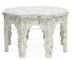 Source Moroccan patten mother of pearl inlay coffee table on m.alibaba.com