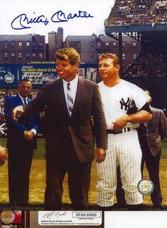 Mickey Mantle Signed 8x10 Photo Auto GFA NY Yankees HOF RFK (FREE SHIPPING)