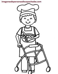 Discapacitados felices ilustraci n para colorear de ni o for Sillas para colorear