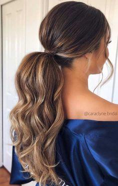 wedding hairstyles ponytail ponytail hairstyles, ponytail for wedding ,bridal ponytails, wedding hairstyles Ponytail Bridal Hair, Long Hair Ponytail, High Ponytail Hairstyles, Ponytail Styles, High Ponytails, Bride Hairstyles, Curly Hair Styles, Ball Hairstyles, Ponytail Haircut
