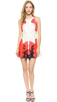 Keepsake Women's Chained Mini Dress, Ivory Rose Cluster Print, Small Keepsake the label http://www.amazon.com/dp/B00SL8GM6O/ref=cm_sw_r_pi_dp_aoN3ub1T41XWN