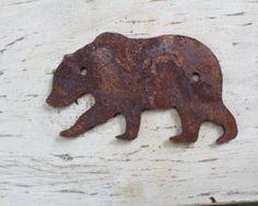 Rustic bear. #metalshape #animaldecor #wildlife #display #uniqueart #cutdecor