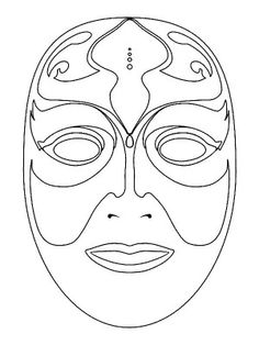 Masks coloring page 37