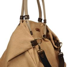 Stonewashed Italian canvas shopping bag - Julia in sandy color.From iyiamihandbags MADE TO ORDER on Etsy, $109.00
