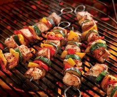 Pork And Veggie Kebabs With Herb Marinade Recipe