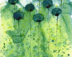 Watercolor Painting: Watercolor Flower Painting by PopwheelArt