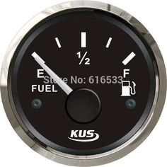 Find More   Information about 52mm pointer oil/ fuel level gauge for yatch marine boat car instrument white black 1pc(0 190ohm),High Quality  ,China   Suppliers, Cheap   from YH Lighting Store on Aliexpress.com