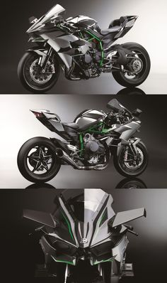 Kawasaki Ninja H2R - With 300hp from a supercharged engine, it's so fast it needs wings. http://electriciendepannageelectrique.com/electricien-77/