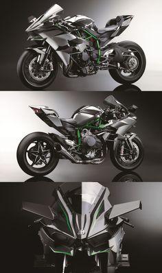 The Beast, der Kawasaki Ninja kommt 2015 mit 300 PS (Cool Cars Stuff) - Autos und Motorrader Kawasaki H2, Kawasaki Ninja H2r, Motos Kawasaki, Super Bikes, Course Moto, Honda, The Beast, Cool Motorcycles, Hot Bikes