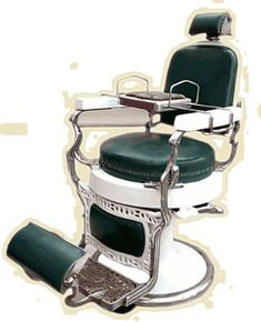 Antique Koken barber chair with child seat Barber Chair Vintage, American Restoration, Mobile Barber, Barber Shop Decor, Barber Supplies, Dental Facts, Stylish Haircuts, Kids Seating, Safety Razor