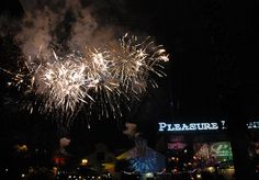 """Pleasure Island (Downtown Disney) - Did you know they used to have a """"new years fireworks' party at Pleasure Island on midnight every night?"""