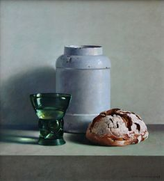 View A still life with bread, glass and a white jar by Henk Helmantel on artnet. Browse upcoming and past auction lots by Henk Helmantel. Still Life 2, Still Life Images, Be Still, Oil Painting Materials, Black Magic Spells, Hyper Realistic Paintings, Still Life Oil Painting, Food Painting, Dutch Artists
