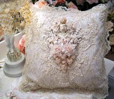 The Gilded Opulence Line Square Pillow-