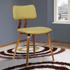 Armen Living Jaguar Mid-Century Dining Chair in Walnut