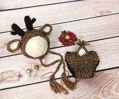 Reindeer White Tail Deer Crochet Reindeer/Deer Hat by 224Locust