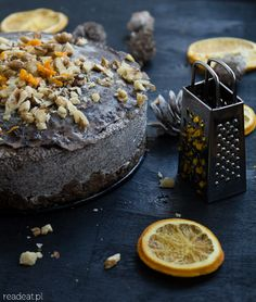 Raw Christmas poppyseed cake