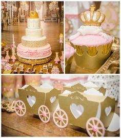 Pink + Gold Princess themed birthday party via Kara's Party Ideas KarasPartyIdeas.com Printables, cake, decor, favors, recipes, cupcakes, and more! #princessparty #princess #princesspartyideas (2)