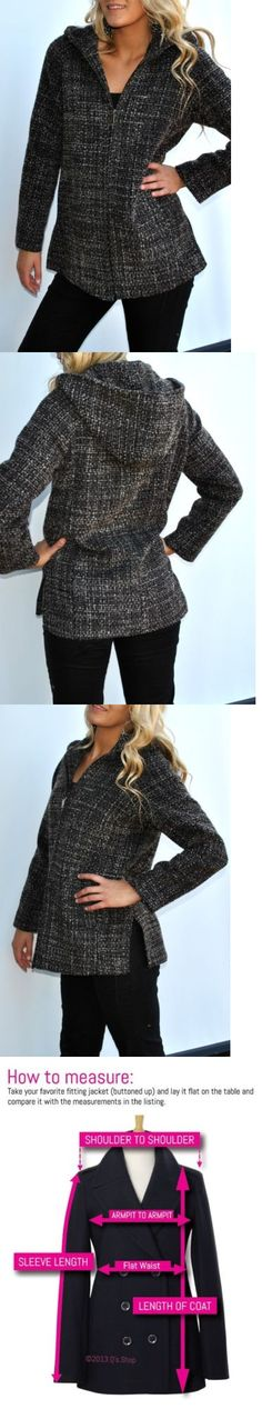Women Coats And Jackets: New Womens Anne Klein Black And Brown Wool Tweed Jacket Coat Hooded Large -> BUY IT NOW ONLY: $49.5 on eBay!