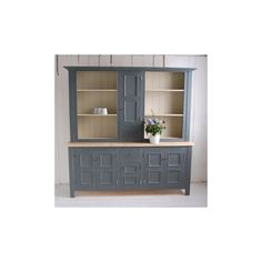 Gray Panelled Kitchen Dresser by Eastburn Country Furniture (156.325 RUB) ❤ liked on Polyvore featuring home, furniture, storage & shelves, dressers, country home furniture, farmhouse dresser, handmade furniture, gray furniture and grey furniture