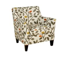 "Ava Fabric Accent Chair, 33""W x 36""D x 34""H - Living Room Furniture - Furniture - Macy's"