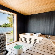 On the off chance that you need the wellbeing and health advantages of steam without heading off to the spa, at that point you can either purchase a home unit pre manufactured or make your own sauna design. It doesn't… Continue Reading → Sauna House, Steam Sauna, Sauna Room, Scandinavian Saunas, Modern Saunas, Indoor Sauna, Portable Sauna, Sauna Design, Ideas