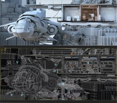 Dock35 by Stefan Morrell wireframe and GI