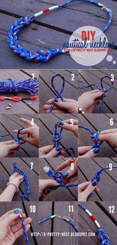 DIY Rope Necklaces Tutorials