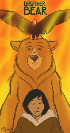I LOVE this movie. It makes me laugh and cry every single time I watch it. It's sad that it's not more popular. Disney Pixar, Disney Films, Disney And Dreamworks, Disney Art, Walt Disney, Brother Bear Quotes, Old Cartoon Movies, Blind Test, Disney Minimalist