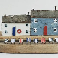 & ready to watch the Red Arrows& Have a good weekend lovely people! Driftwood Furniture, Driftwood Projects, Driftwood Sculpture, Driftwood Art, Saltbox Houses, Wood Houses, Kirsty Elson, Wooden Cottage, Beach Wood