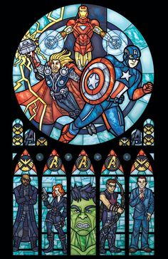 Stained Glass Window Church of Marvel