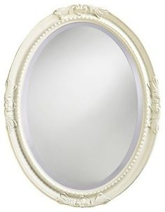 Howard Elliott Queen Anne Oval Wall Mirror - High Gloss White Finish - x in. - The Howard Elliott Queen Ann Wall Mirror's elegance and classic style is the perfect accent for the boudoir or powder room. The oval wood frame features. Beveled Edge Mirror, Oval Mirror, Oval Frame, Pink Mirror, White Mirror, Girls Mirror, Princess Mirror, Princess Room, Princess Palace