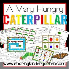 very hungry caterpillar book extension printables