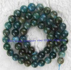 "Natural 8mm Motley Kyanite Round Gemstone Beads 15"" | eBay"