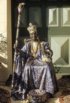 Africa | The Alake (ruler) of Abeokuta, Sir Ladapo Samuel Ademola II. Abeokuta, Nigeria. 1959. | ©Eliot Elisofon.