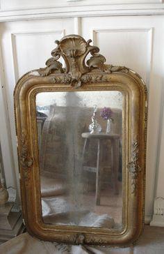 antique mirror - brocante-charmante