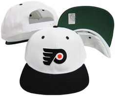 Philadelphia Flyers White/Black Two Tone Snapback Adjustable Plastic Snap Back Hat / Cap by Reebok. $20.04. Make a fashion statement while wearing this retro snapback cap.