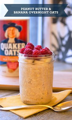 Overnight oats are the perfect quick and simple make-ahead meal. To make this recipe, just throw 1 cup  Quaker® OId Fashioned Oats, ⅓ cup peanut butter, ⅔ cup milk, 1 tbsp cinnamon, and 2 tbsp honey in a mason jar and let it all soak overnight. In the morning, just grab your perfectly chilled breakfast and go!