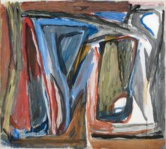 Bram VAN VELDE SANS TITRE, CAROUGE, 1974 Gouache sur papier marouflé sur toile 140 x 154 cm Estimation 180 000 € - 220 000 € chez VERSAILLES ENCHERES le Dimanche 5 juillet à 14h30 à Versailles