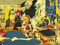 Jacques Villeglé, 122 rua du temple, 1968, Torn-and-pasted printed paper on canvas, 159 x 210.3