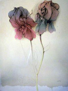 Bruno Bruni(Italian, b.1935)Zwei Lilien Original Lithografie