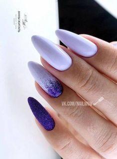 Fails Art Purple Marble Ideas For 2019 Edgy Nails, Grunge Nails, Oval Nails, Stylish Nails, Classy Nails, Summery Nails, Cute Pink Nails, Purple Nails, Halloween Acrylic Nails