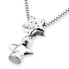 IAD  14K/585 White Gold 3Dimensional Diamond Cut Angel by IADJewellery, $163.00