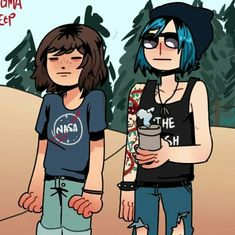 Life Is Strange Photos, Life Is Strange Fanart, Life Is Strange 3, Funny Video Game Memes, Video Games, Blue Haired Girl, Max And Chloe, Lesbian Art, Your Girlfriends