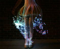 FIber Optic Dress. This is a dress I made using fiber optics from Ants on a Melon. Video was taken by Audrey Love. Song is by Opiuo