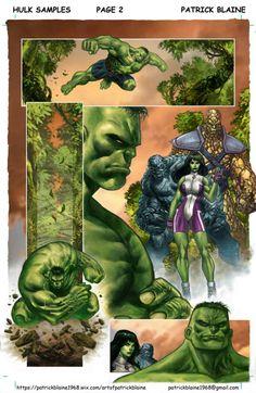 #Hulk #Fan #Art. (Hulk Sample #2) By: Patrick Blaine. ÅWESOMENESS!!!™ ÅÅÅ+