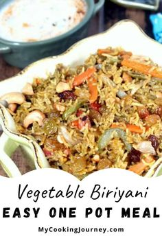 This vegetable biriyani is something that I make on weeknights for quick dinner and it can all be made in a pressure cooker or a heavy bottom pan.