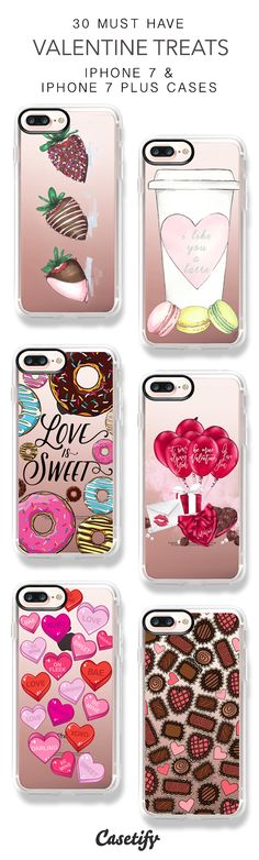 30 Must Have Valentine Treats iPhone 7 Cases and iPhone 7 Plus Cases. More Valentine iPhone case here > https://www.casetify.com/collections/top_100_designs#/?vc=pkkGsY00uK