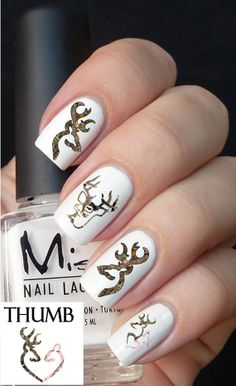 Hey, I found this really awesome Etsy listing at https://www.etsy.com/listing/165524028/camo-deer-logo-nail-decal