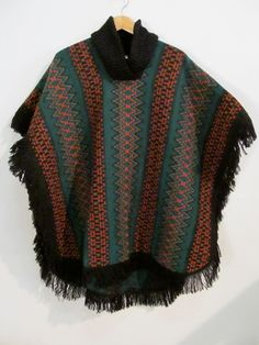 Mexican Cape Blanket Poncho  $42